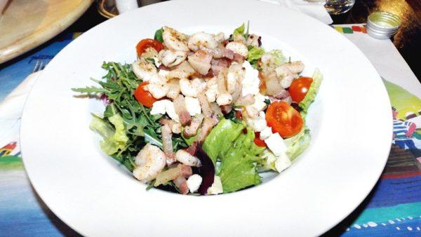 Bacon salad i n Croatia