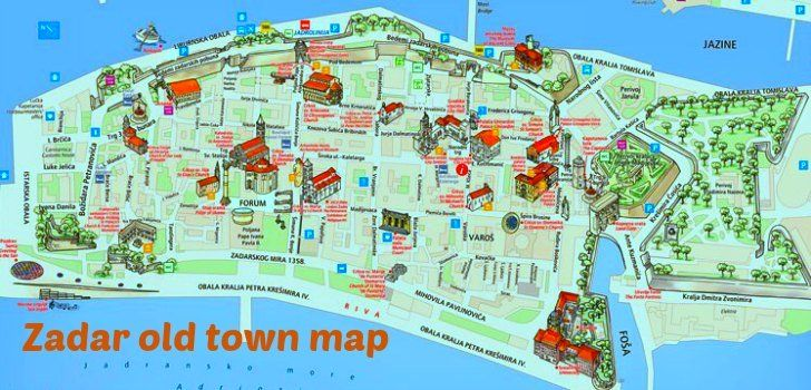 Map Of Zadar Croatia Wise