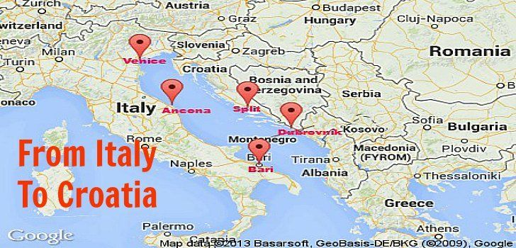 How to Get from Italy to Croatia by Plane, Ferry, Train or Bus