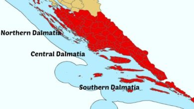 Photo of Map of the Dalmatia Coast