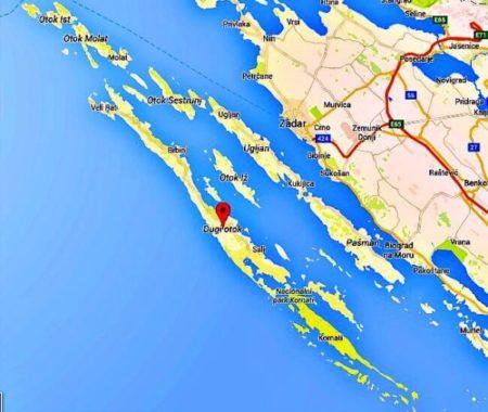 Dugi Otok Map