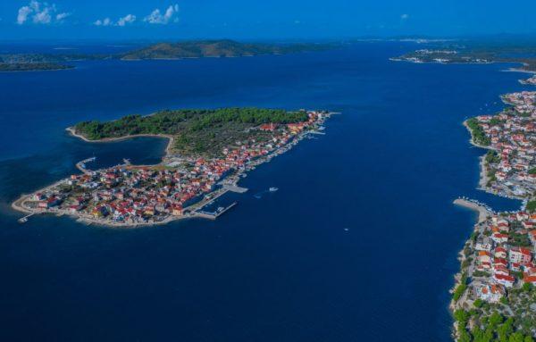krapanj island aerial view